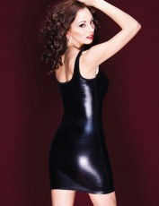 black-wet-look-mini-dress-with-thick-tank-straps-up-to-xl-size-back