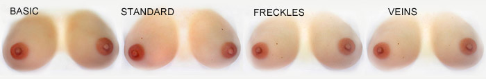 breast forms finish options