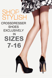 crossdresser shoes size 16 logo