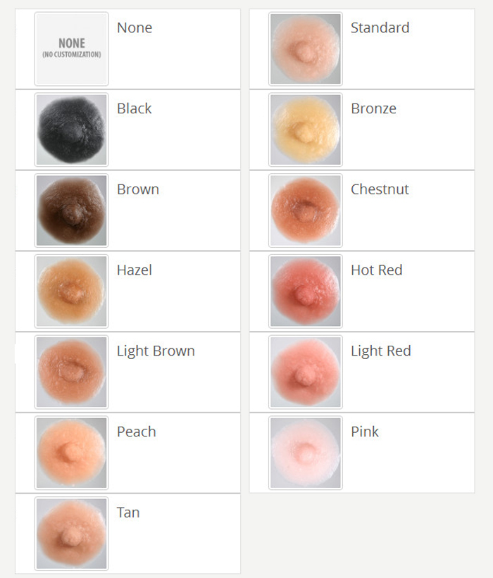 breast forms nipple color options photo