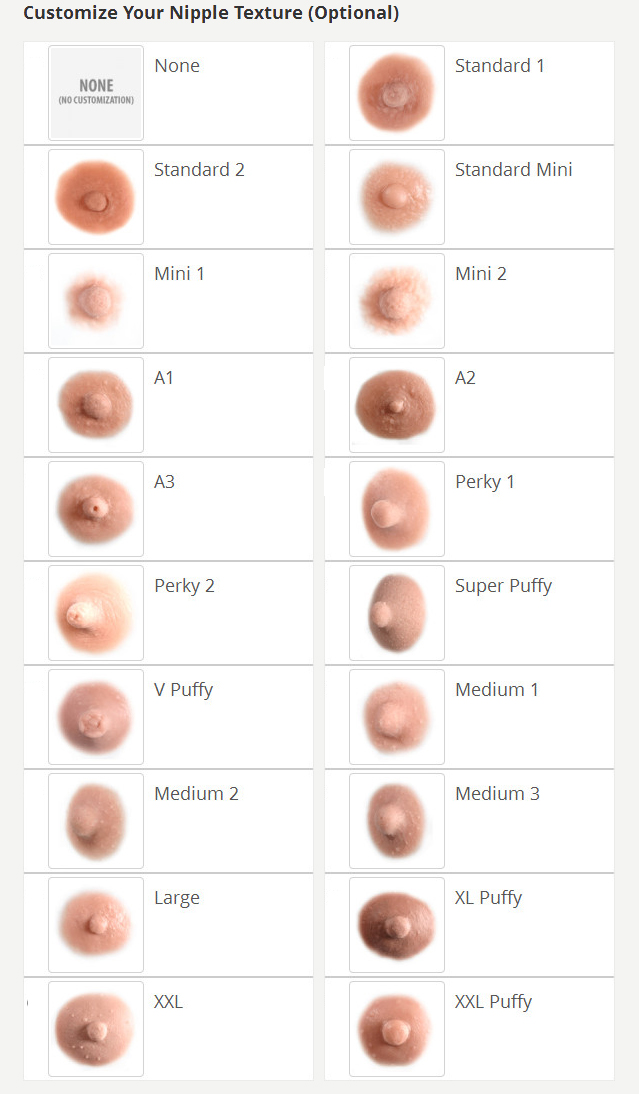 breast forms nipple options photo