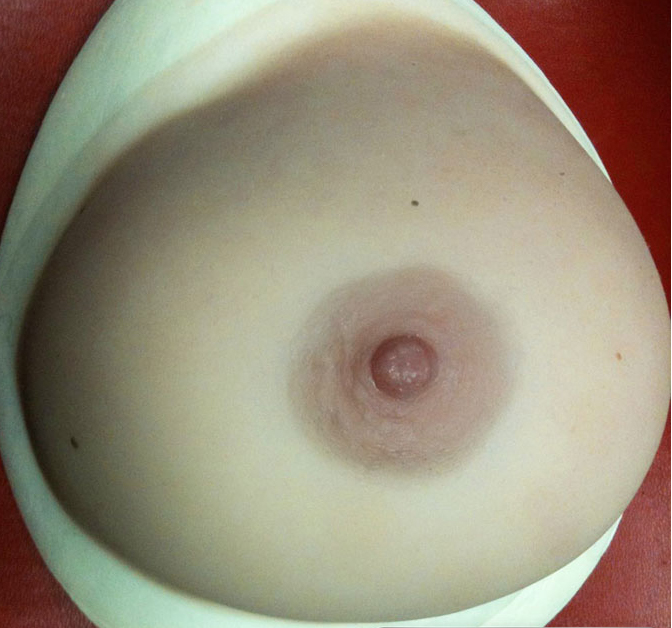 real breast forms close up image